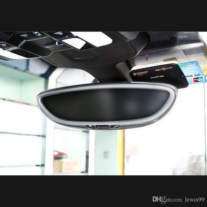 Estilo del automóvil Espejo retrovisor interior Cubierta del marco decoración cubierta tira de adorno Calcomanías de etiqueta 3D para Porsche Cayenne Macan panamera accesorios