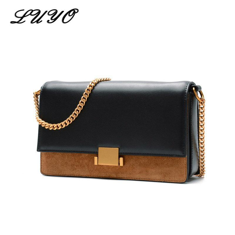 061c6d524a09 Luyo Fashion Genuine Leather Suede Luxury Ladies Handbags Brands Women  Messenger Bags Designer Clutch Vintage Small Purses And Leather Bags For  Women Clutch ...