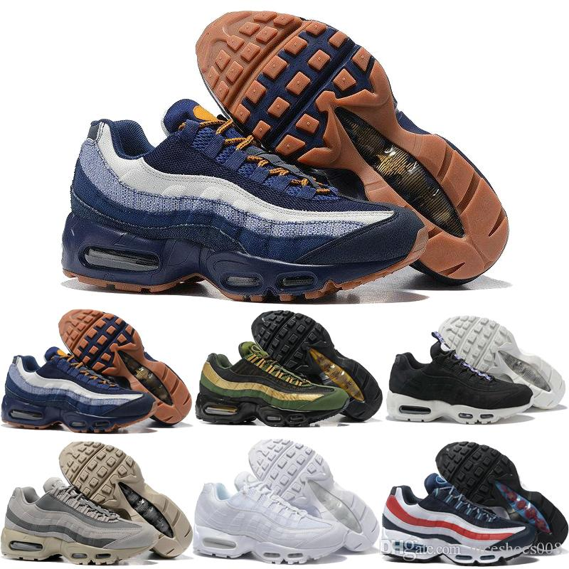 new style c83ab 4e7ed Acheter Nike Air Max Airmax 95 Newest Drop Shipping Chaussures De Course En Gros  Hommes Airs Coussin 95 Og Sneaker Bottes Authentique 95 S Nouvelle Marche  ...