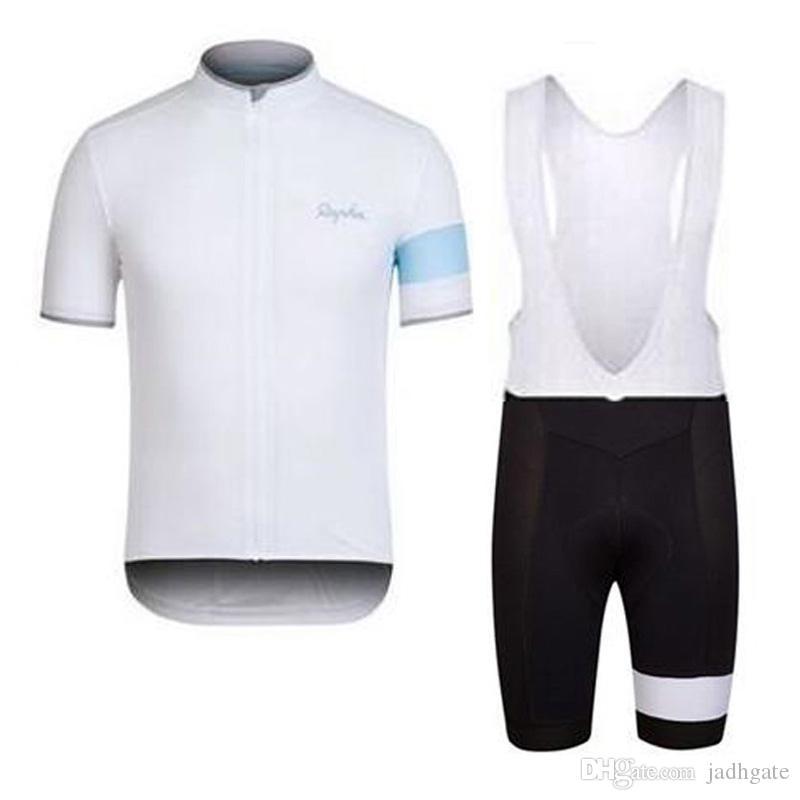 RAPHA ekibi Bisiklet Kısa Kollu jersey önlük şort setleri bisiklet giyim nefes açık dağ bisikleti D1320