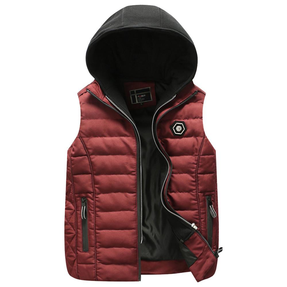 separation shoes 326f3 270d8 Giaccone in cotone imbottito per uomo autunno inverno nuovo stile con  cappuccio caldo con collo alto e gilet