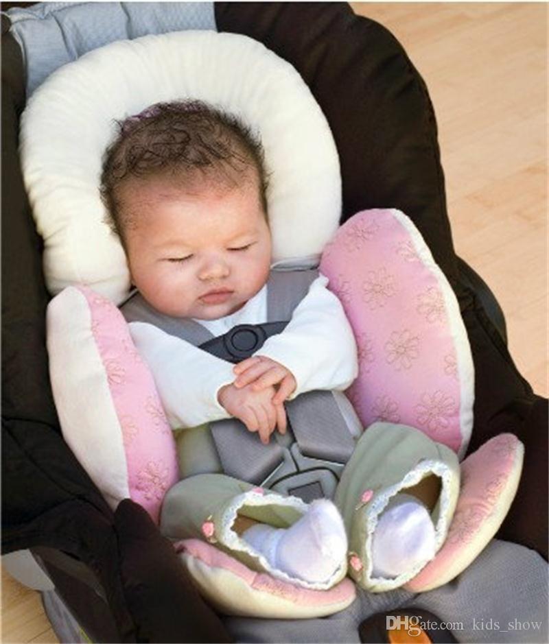 Cojín de bebé suave cojín de protección para el cuello infantil cojín de sujeción niños asiento de coche cojines de seguridad es