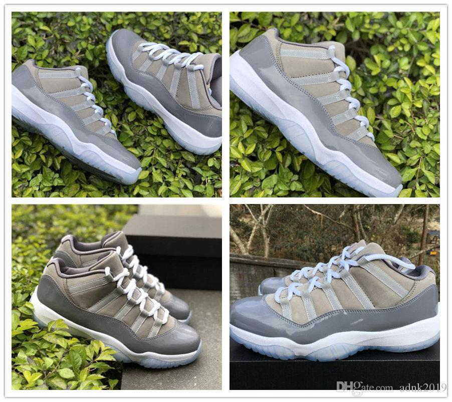 3ab441a9b142fe 2018 New 11 Cool Grey Low XI Men Basketball Shoes 11s High White ...