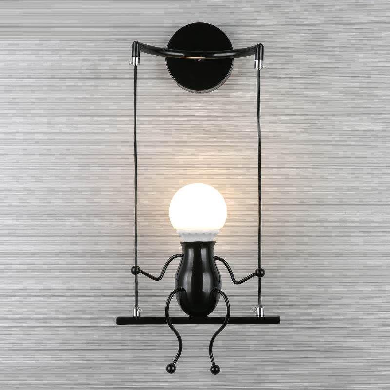 Großhandel Moderne LED Wandleuchte Wohnzimmer Gang Eisen Kunst ...