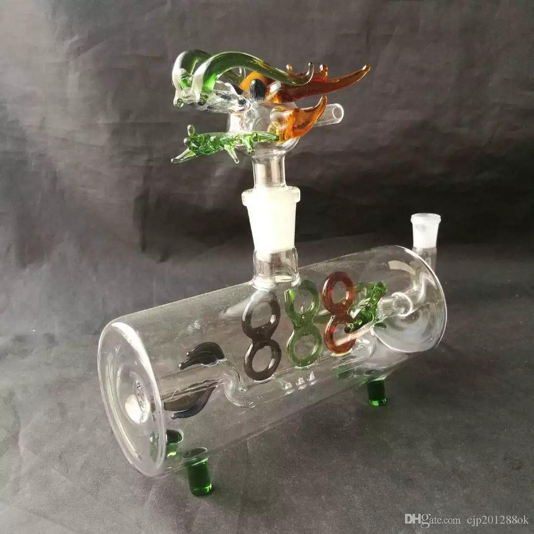 Le tuyau horizontal menant la conduite d'eau Gros bangs en verre Brûleur à l'huile Tuyaux d'eau en verre Supports à l'huile Fumer sans