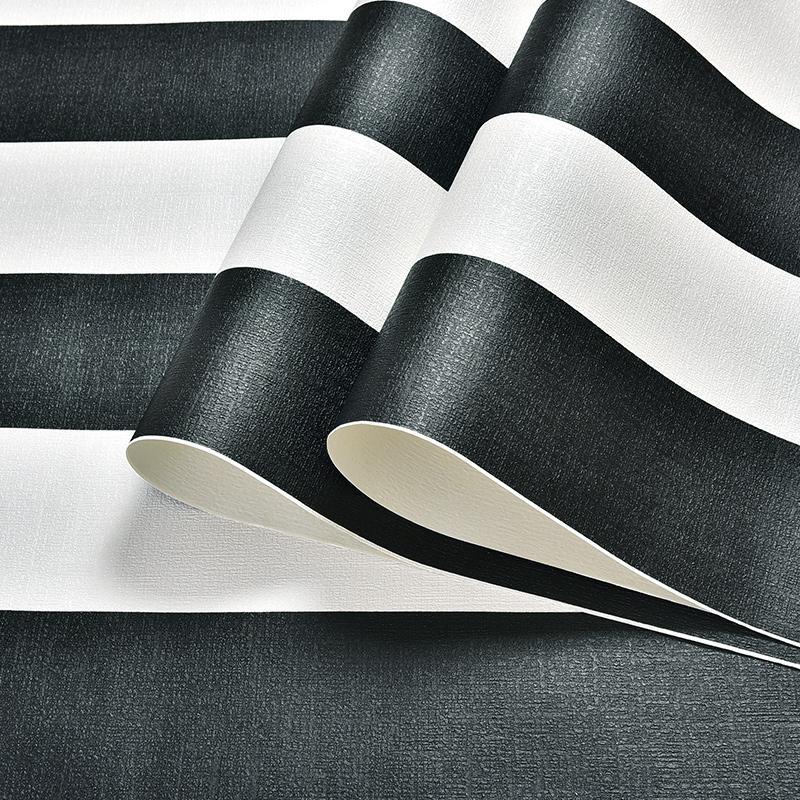 Acheter Moderne Noir Blanc Horizontal Vertical Rayures Papier Peint Pour  Murs Rouleau Décor À La Maison PVC Étanche Salon Chambre Papier Peint De  $52.43 Du ...
