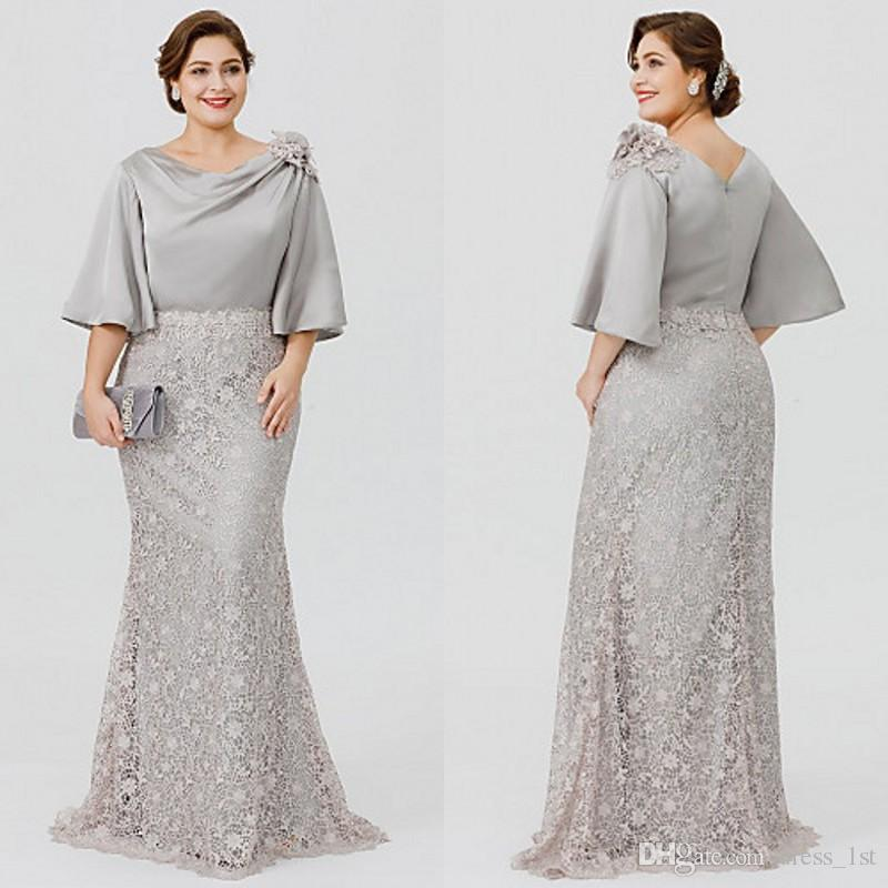 Plus Size Mother Bride Dresses: Elegant Plus Size Mother Bride Dresses 2018 Latest Bateau