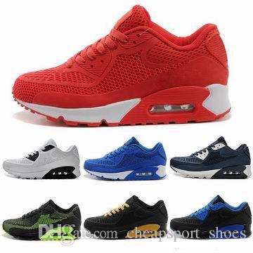 e0fe5562ebd56 Compre Cushion 90 KPU Zapatos Para Correr Para Hombre Todos Los Zapatos  Deportivos Negros Zapatos Al Por Mayor Baratos Para Mujeres Envío Gratuito  A  93.41 ...