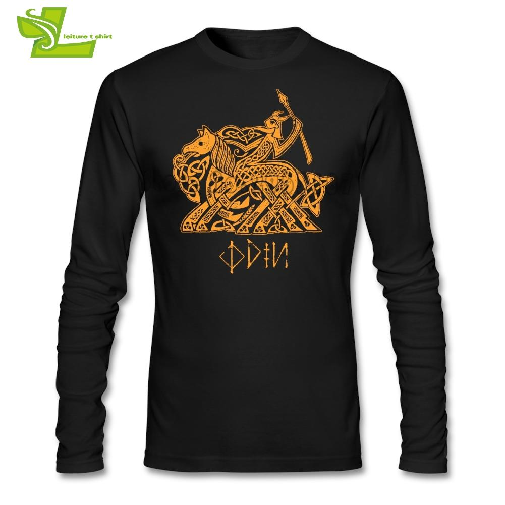 Odin T Shirt Mens Long Sleeve O Neck Cool Tees Male Latest Clothing