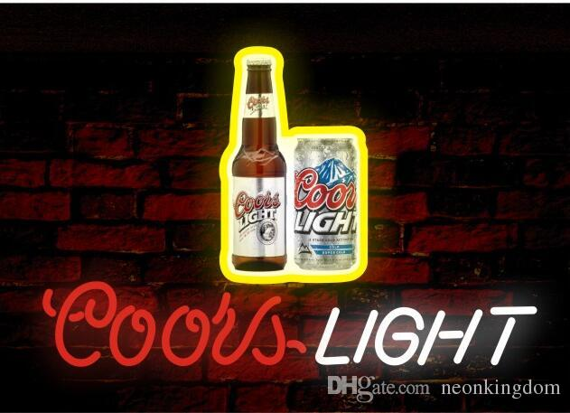 2018 Coors Lightu0026Beer Neon Sign Real Glass Tube Bar Club Store Business  Advertising Home Decoration Art Gift Display Metal Frame Size 17u0027u0027X14u0027u0027  From ...