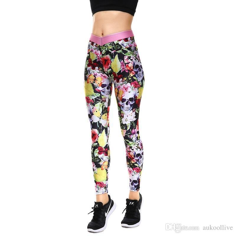 b4ef21572e008 Winter Hot Sale Halloween Yellow Leaves Women's Yoga Leggings Tight Pants  Workout Pants Exercise Running Fitness Leggings