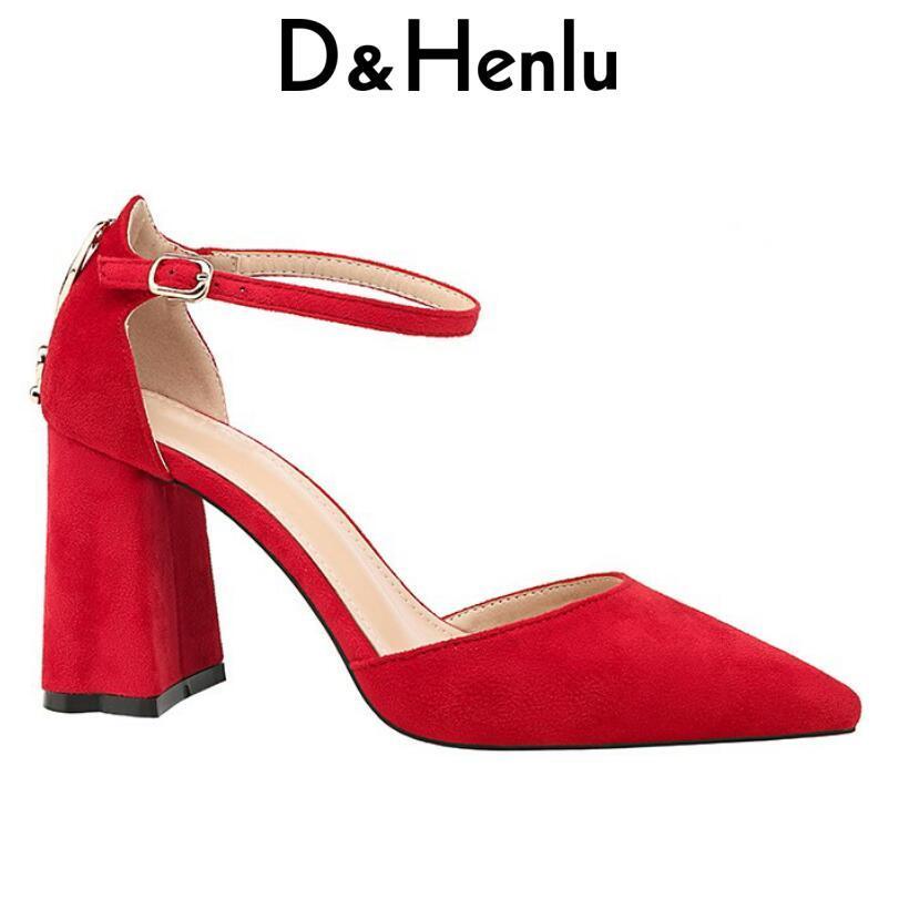 Damen Schuhe Heels Großhandel Frühjahr Mode 2018 Dhenlu Damenschuhe HI92ED