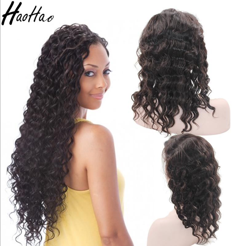 Human Hair Wigs For Black Women Deep Wave Brazilian Virgin Full Lace Wigs Lace Front Wigs Natural Hairline Customized 9A
