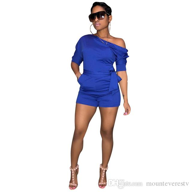 b0c8a86ddde0 Bodysuit Women New Style Blue Color Rompers Women Jumpsuit Skinny Party Sexy  Club Combinaison Short Femme Online with  43.12 Piece on Mounteverestv s  Store ...