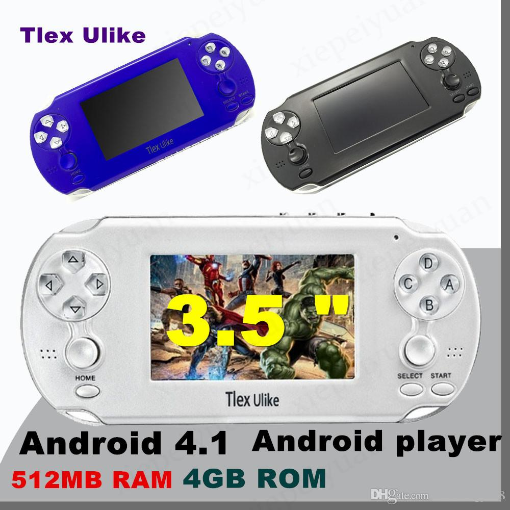 NEW Tlex Ulike Android 512MB RAM 4GB ROM Handheld TV Game Console Bluetooth  Wifi HDMI Video Support MP4 MP5 NES FC SFC MD Android player