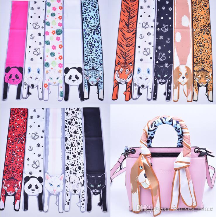 161b2f21e86b Acheter Nouvelle Soie Tete Foulards Femmes Imprimé Animal Cou Echarpe TOP  Qualité Sac Poignées Enveloppes Enfants Foulards Bande De Cheveux De  3.98  Du ...