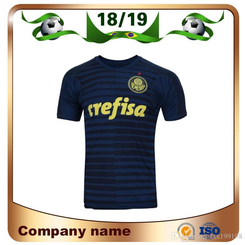 11f5d3dbd5a8b Compre 2019 Camisa De Futebol Do Goleiro Palmeiras 18 19 Azul Marinho De Goleiro  Camisa De Futebol Do MOISES BORJA   7 DUDU Uniformes De Futebol Do Club ...