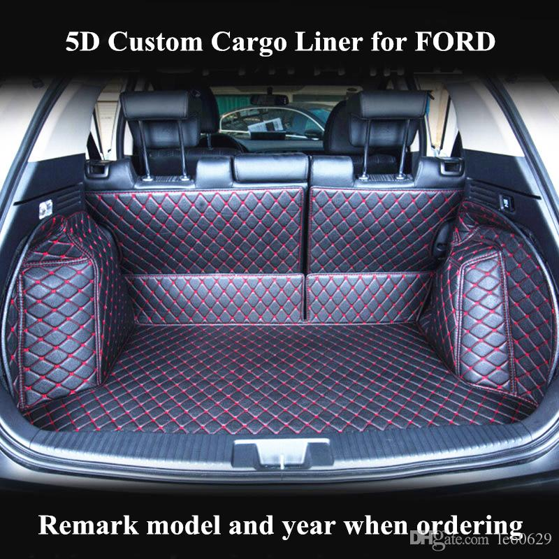 Custom Cargo Liner Car Trunk Mat for FORD FIESTA FOCUS FUSION MUSTANG MONDEO ECOSPORT ESCAPE EDGE Auto Trunk Mats