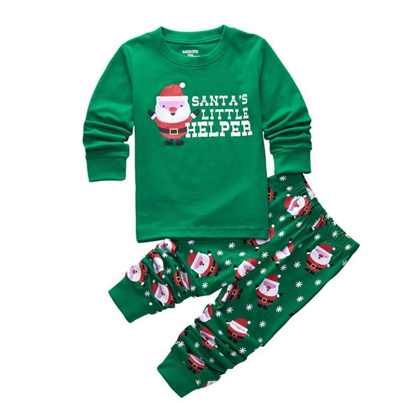 382fbeff4191 Christmas 2 7 Yrs Baby Pajamas Set Christmas Old Man Pattern ...