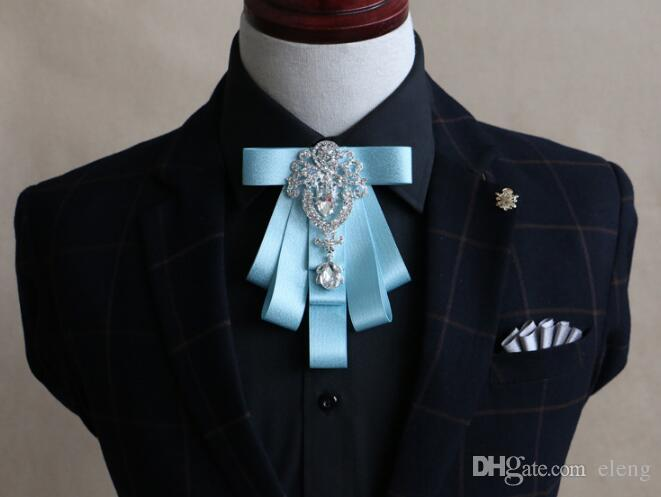 2018 New listing fashion Set auger bow tie Set bow ties for men necktie handsome royal family tie core and the wedding supplies 28