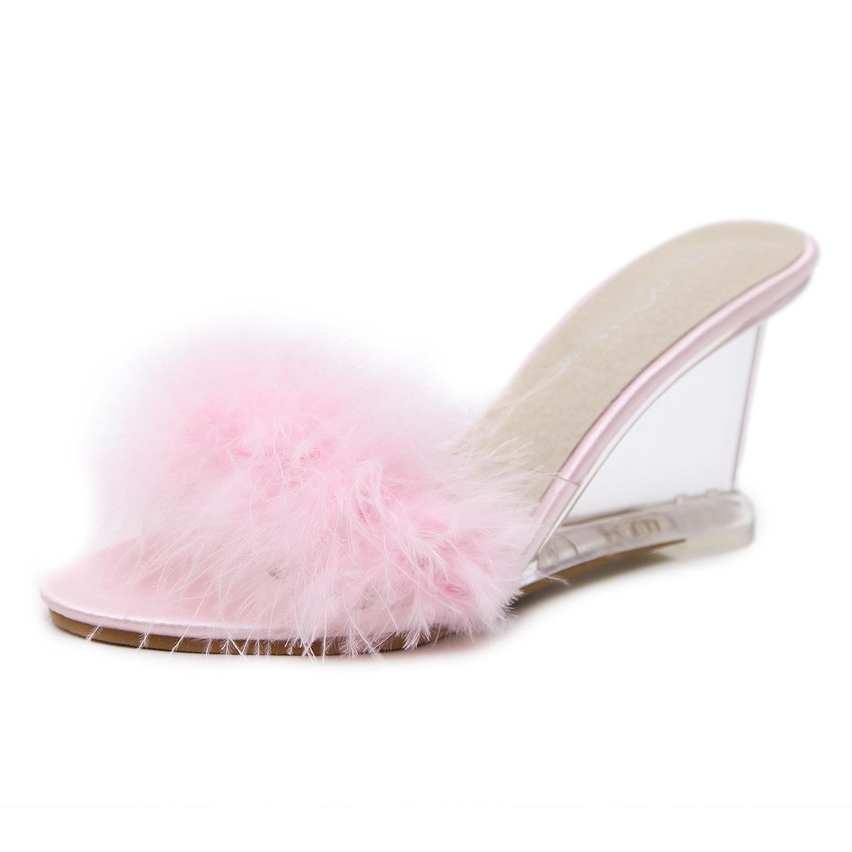 684c2111ba Compre Cristal Sandálias Femininas Sandalias Feminina 8.5 Cm De Salto Alto  Senhoras Sandálias Cunhas Arco Transparente Praia Sandálias Zapatos Mujer  De ...
