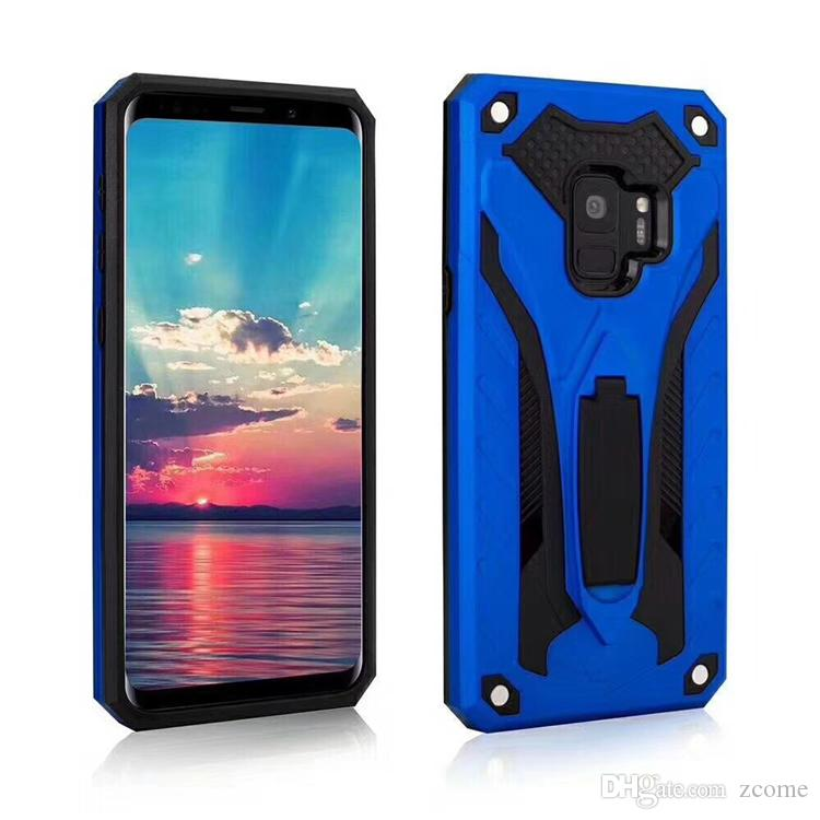 size 40 3d289 43e1e Kickstand Case for Samsung Galaxy S9 S9 A6 A6 Plus J2 Pro 2018 Hybrid Heavy  Duty Shockproof Back cover with holder Stand Defender