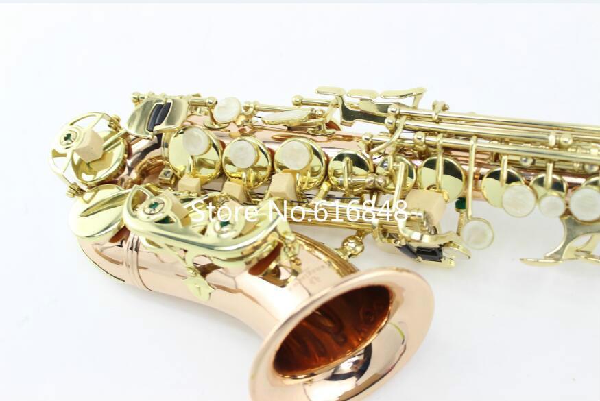 Küçük Kavisli Boyun B Düz YANAGISAWA SC-992 Profesyonel Soprano Saksafon Altın Lake Fosfor Bakır B Dinle Sax Ile Ağızlık Durumda