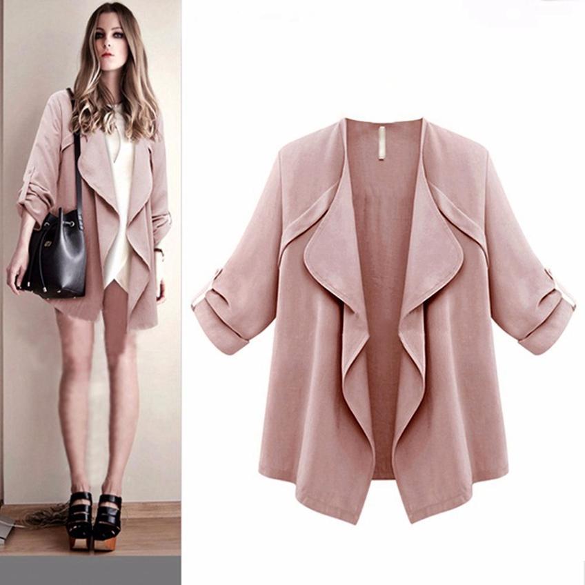 a074242842d93 Jacket Women Fashion Jackets Plus Size Female Coat Women S Open Stitch  Outwear Autumn Spring New Befree Large Size Coats Long Jacket Fur Jackets  From Masue