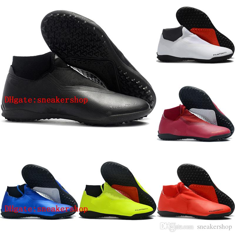8bfd38f019 2018 Cheap Mens Soccer Cleats Phantom Vision Elite DF TF Indoor Soccer  Shoes Crampons De Football Boots Chuteiras De Futebol Boots Office Shoes  From ...