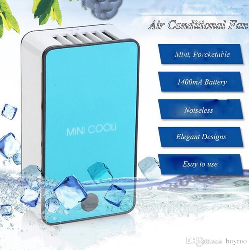 Ruo New Style Upgrade Mini Portable Hand Held Desk Air Conditioner Humidification Cooler Cooling Fan