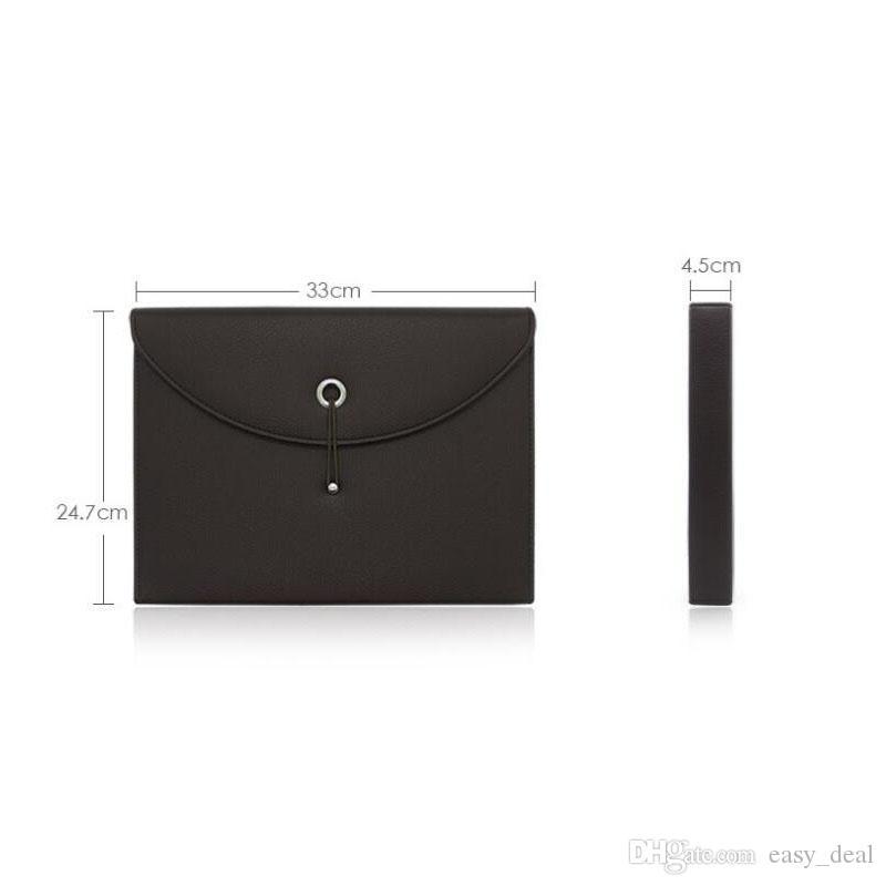 Moda PU Deri Dosya Çantası Belge Çanta 33 * 24.7 * 4.5 cm A4 Ofis Ve Okul Malzemeleri ZA6337 Belgeler Klasörü