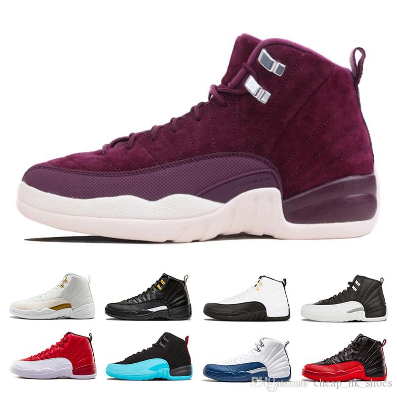 73523d9ac474 New 12 Men Basketball Shoes Sneakers Black White Gym Red Bordeaux Taxi The  Master Playoffs Flu Game Gamma Blue 12s Mens Sports Shoes Shoes For Sale  Baseball ...