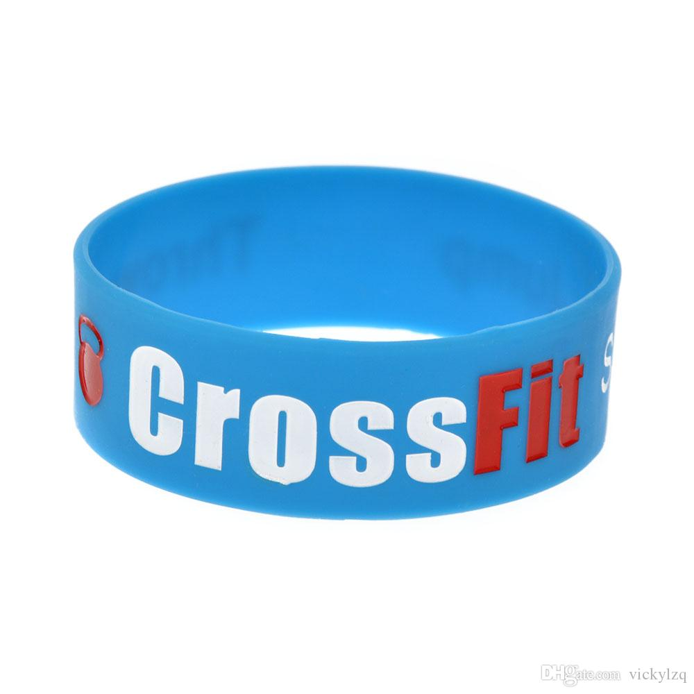 1 Inch Wide Squat Jump Climb Throw Lift CrossFit Silicone Wristband for Sport Promotion Gift