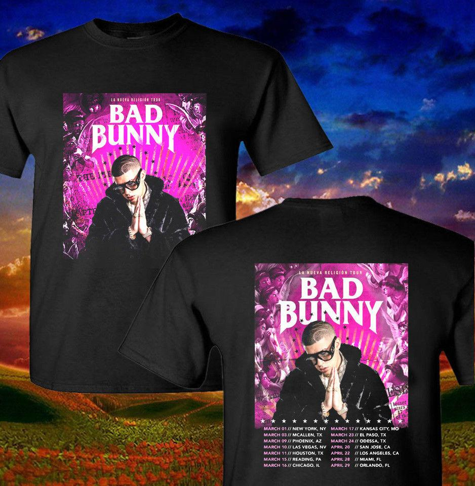 Compre Bad Bunny Shirt La Nueva Religion Tour Camiseta World Music 2018  Camiseta Merch A  11.68 Del Beidhgate05  3acf1436d15ec