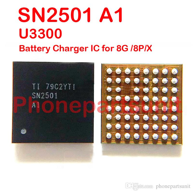 5 pz / lotto Originale Nuovo SN2501 SN2501A1 Ricarica Batteria IC USB Charger ic Chip iPhone 8 8G 8P 8Plus X 8X U3300 Chip Assembly su Mainboard