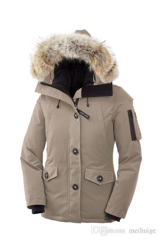 66d449505 Women's Down Jackets MONTEBELLO PARKA Duck Real Raccoon Fur Winter Thick  Warm Coats Parkas Hooded Coat Downs Outerwear Sport Jackeet