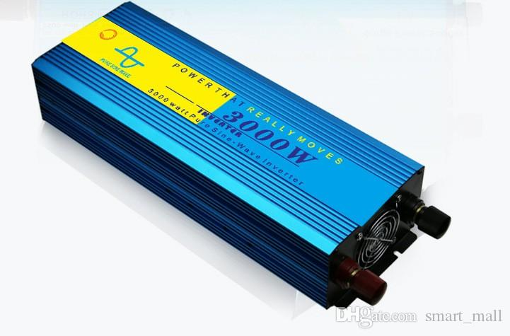 6000 Watt Spitze 3000 Watt Reine Sinus Wechselrichter für Off Grid Solar System DC 12 V 24 V 48 V bis AC 110 V 220 V LLFA
