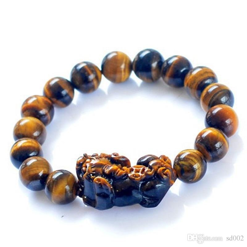 Tiger Eye Stone Bracelet Boutique Ball Round Bracelets Accessories Nature Elastic Line Creative Portable Women Jewelry Gift 15gj jj