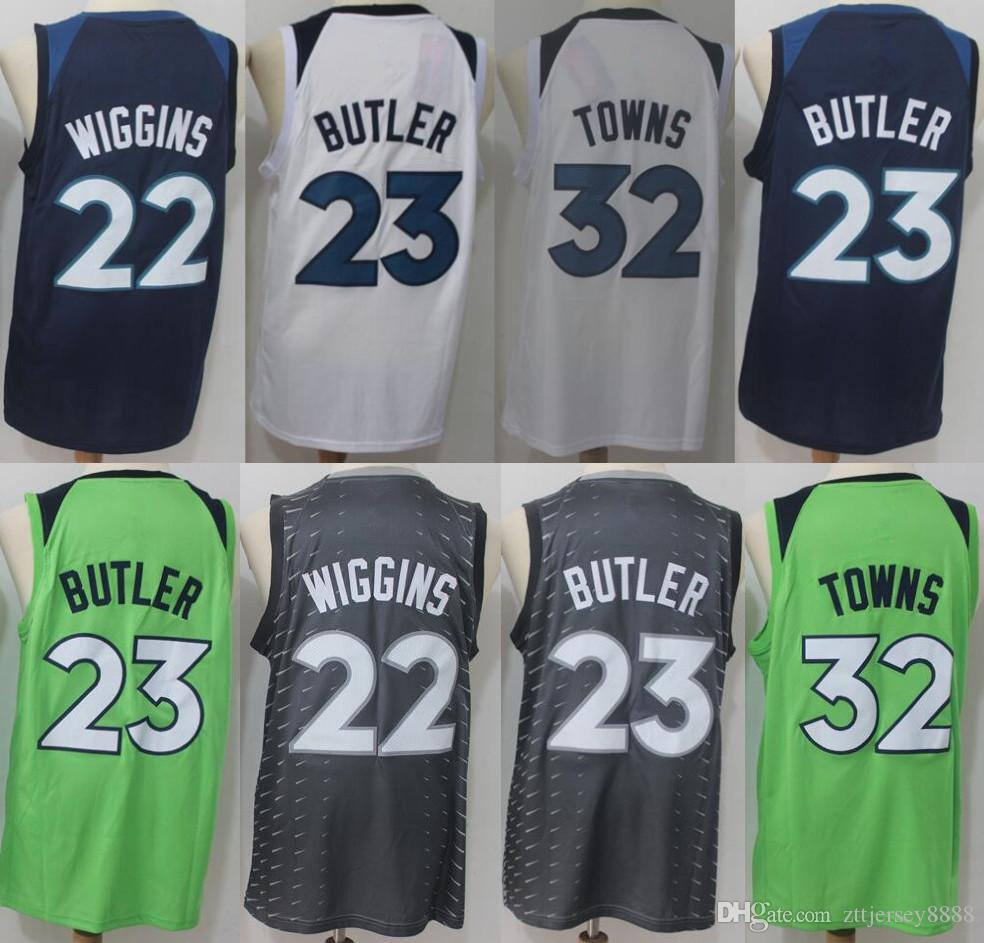 22 Andrew Wiggins 23 Jimmy Butler 32 Karl-Anthony Towns Men s Timberwolves Basketball  Jerseys 2018 New Season Fashion Fan Men Sport Jersey 22 Andrew Wiggins ... d79fbf3b8