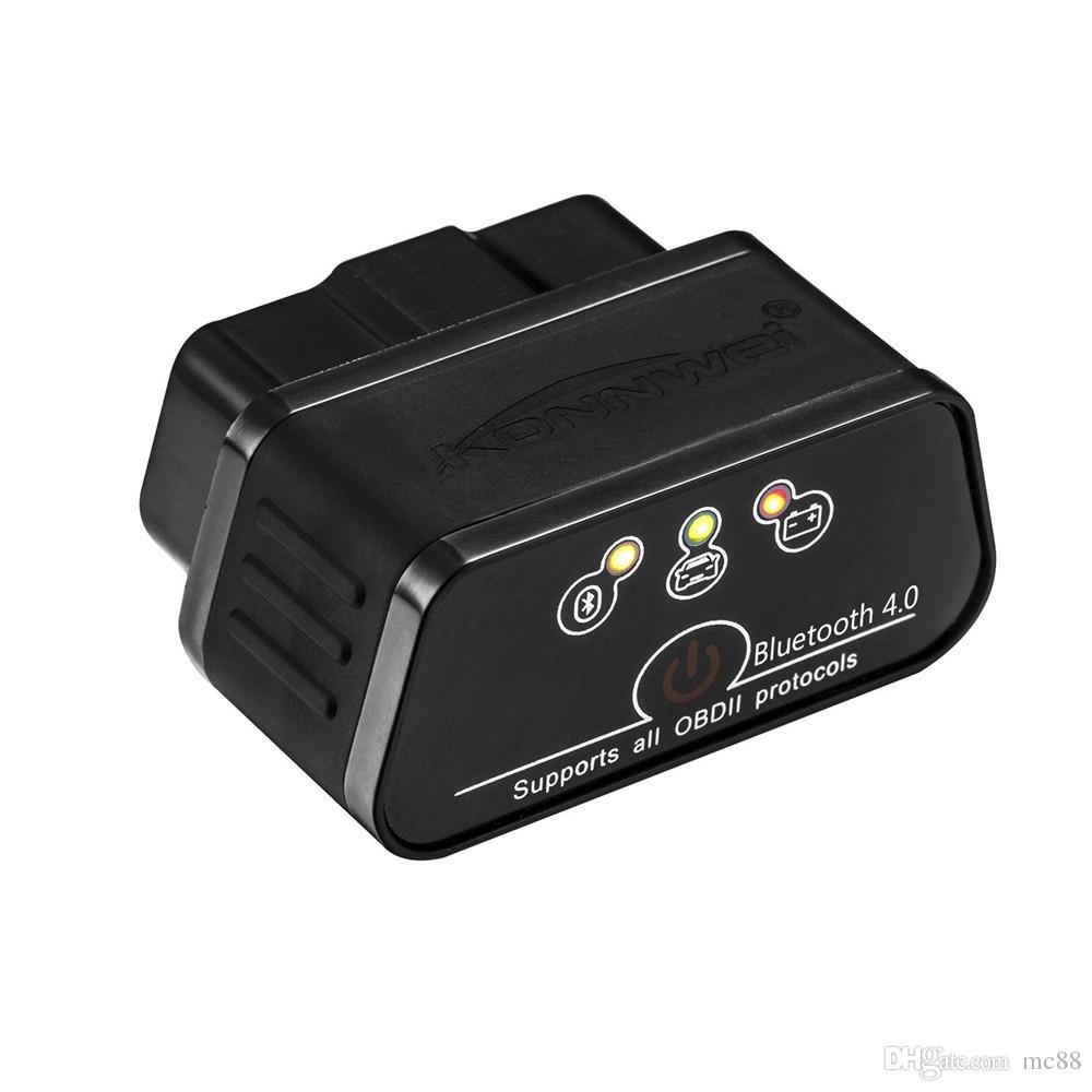 Bluetooth 3.0 OBD2 Scanner, Android e Windows Dedicato OBD II Auto strumento di scansione diagnostica con interruttore Auto Sleep e Free Professional APP