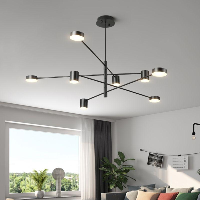 Art Deco Gold Black White Color Ceiling Chandeliers For Living Room Bedroom Dining Modern LED Lustres Chandelier Lights Floral Table