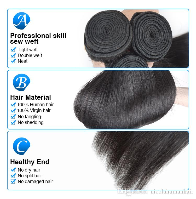 100 Cheap India Hair Extensions 3 Bundles Stright Hair Unprocessed