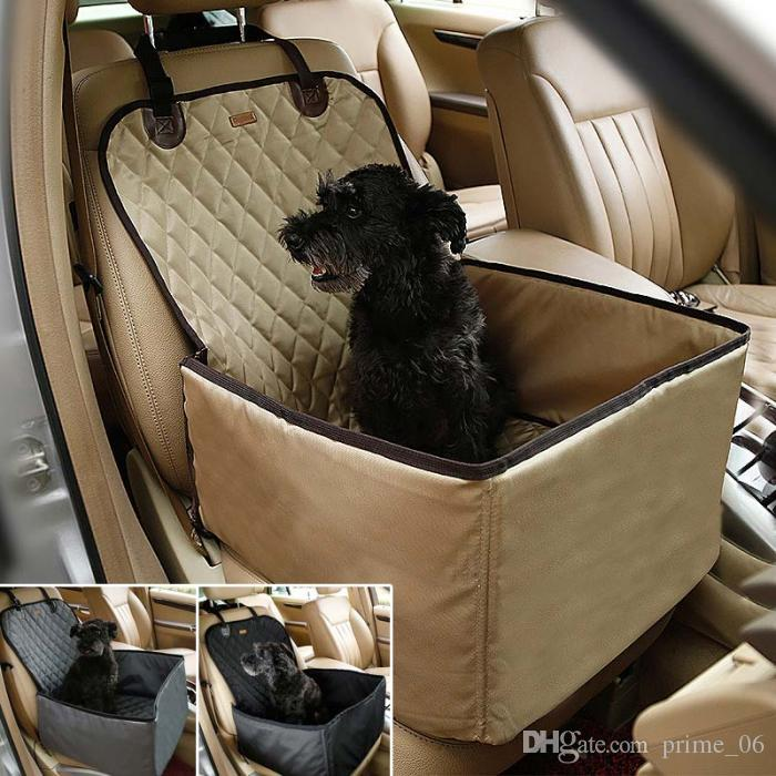 Waterproof Dog Pet Car seat mat Carrier Carry Storage Bag Booster Seat Cover 2 in 1 Carrier Bucket Basket TB Sale