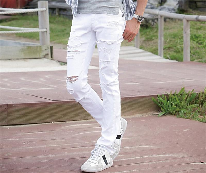 071797f89092 2019 Hot Top Quality Spring & Summer Man White Jeans Slim Straight Light  Color Men Skinny Trousers 2016 W27 36 From Pingpo, $69.56 | DHgate.Com