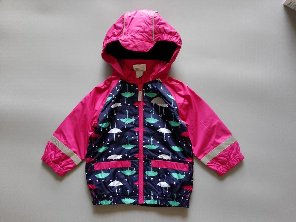 buy good hot-selling real separation shoes baby girls rose jacket with umbrella print, windproof and waterproof  jacket, spring/autumn jacket w fleece lining, 74 to 92