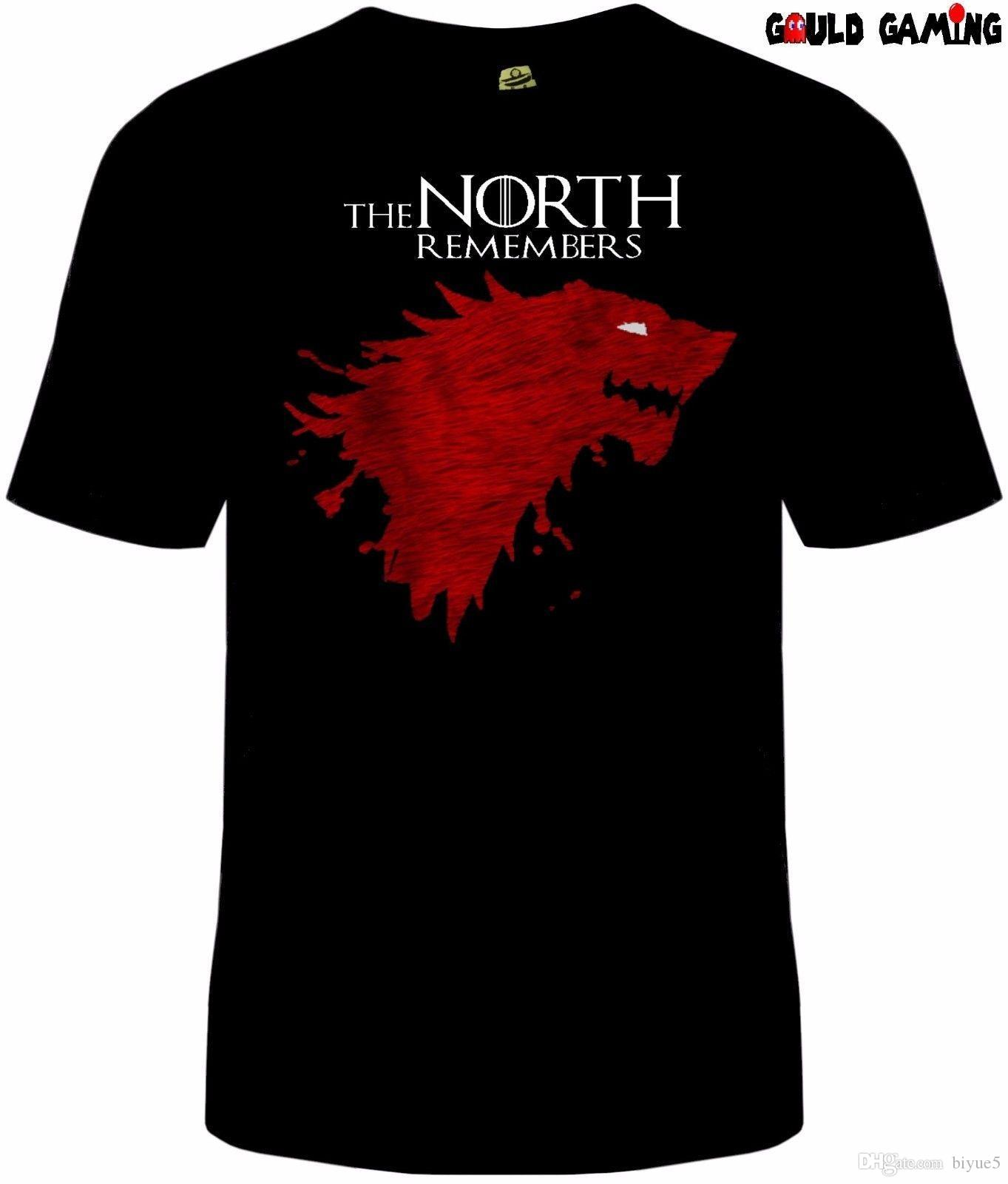 many styles uk availability pretty nice Game Of Thrones The North Remembers T-Shirt NWT Licensed & Official Stark  Blood Brand Cotton Men Clothing Male Slim Fit T Shirt