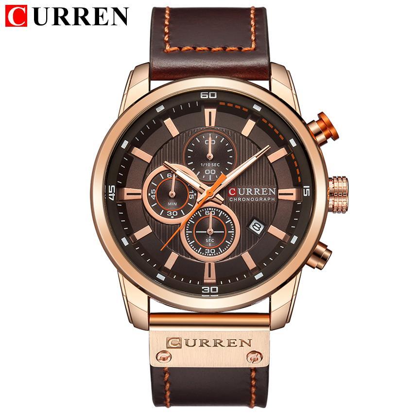 6d9134a85b7 CURREN 8291 Fashion Brand Luxury Watch Men Date Display Leather Creative  Quartz Wrist Watches Relogio Masculino 2018 Watches Sales Sale Watch From  Weichengz ...