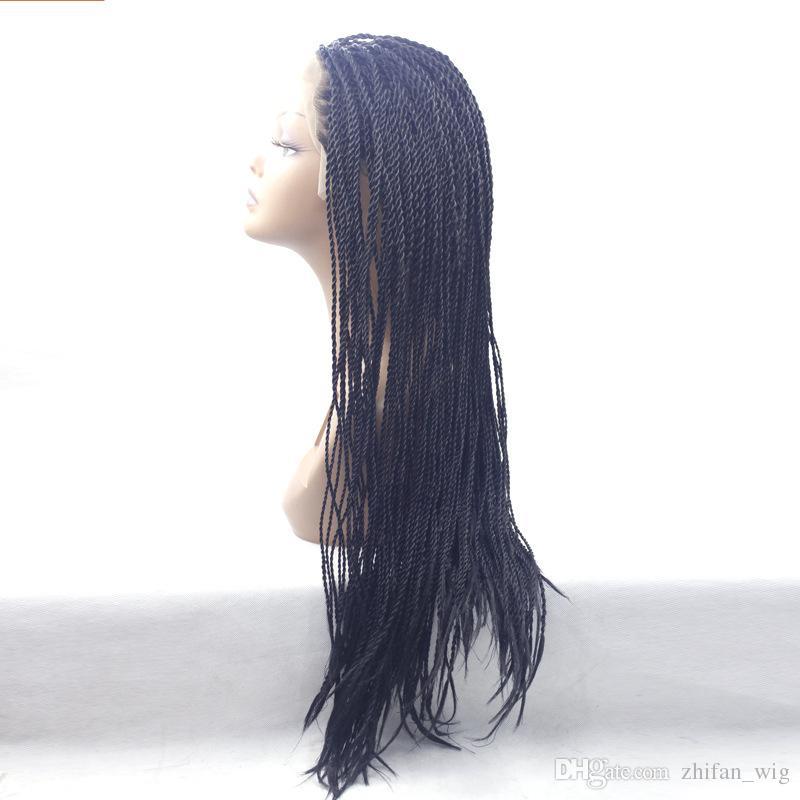 ZhiFan estilos de trenzado de pelo de torsión trenzas de doble giro peinados de 26 pulgadas de largo tejiendo sitios web pelo hecho a mano pelucas delanteras del pelo DHL LIBRE