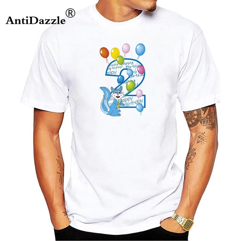 Antidazzle Second Birthday Tee 2nd T Shirt For Toddler Kids Men Cartoon Now Shirts Deal With It From Qqyes123 132