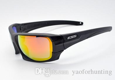 9ab9e5b4f9a 2019 ESS ROLLBAR Polarized Tactical Sunglasses 4 Lens Outdoor Sports Anti  UV Glasses TR90 Frame Army Goggles Ballistic Test BulletProof Eyewear From  ...